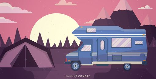 RV motorhome illustration