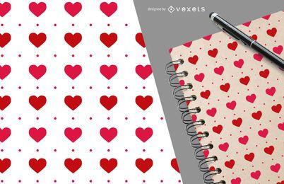 Patrón de corazón romántico de San Valentín