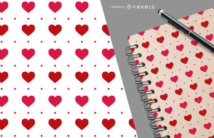 Patrón de corazón romántico de San Valentín - Descargar vector
