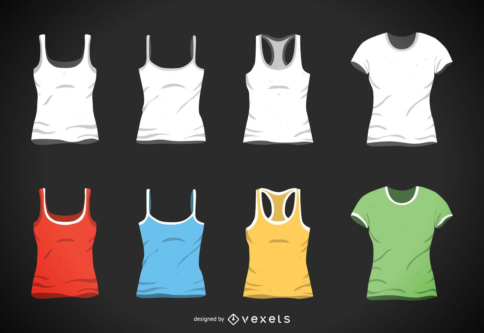 Conjunto de camisetas y camisetas sin mangas