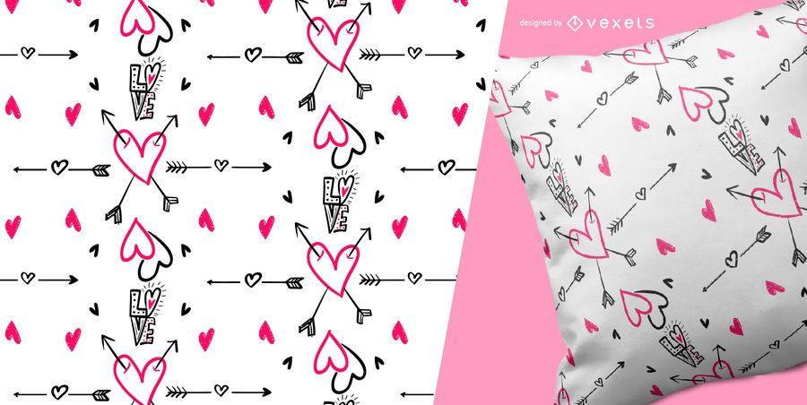 Patrón sin costuras de amor y corazones - Descargar vector