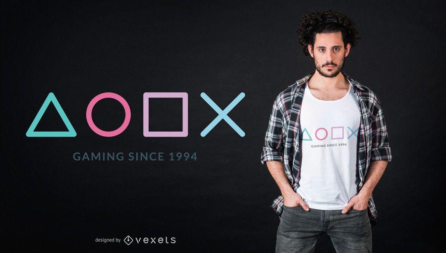 Design de t-shirt para jogos