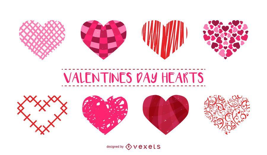 Jogo, de, coração, ilustrações