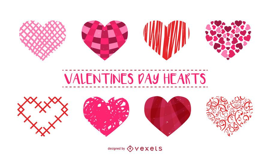 Set of heart illustrations