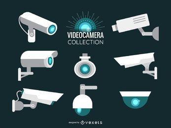 Conjunto de ilustración de cámara de video