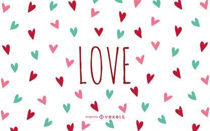 Liebestapete mit Herzen