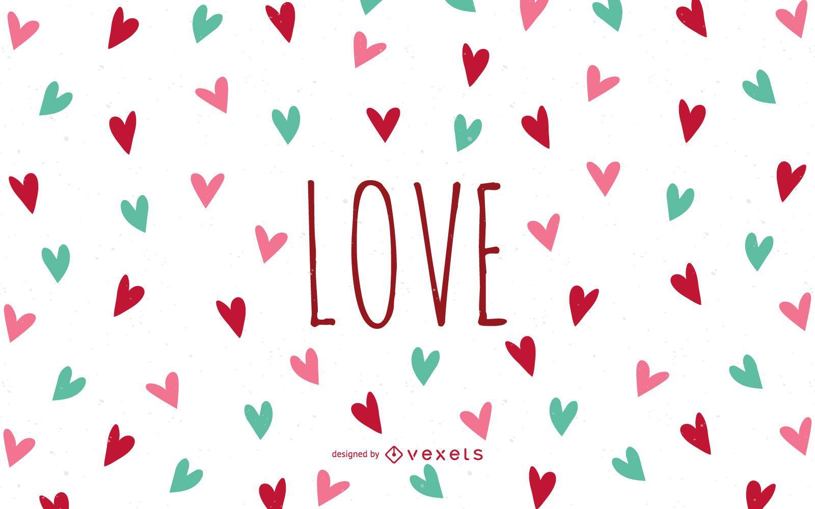 Fondo De Pantalla De Amor Con Corazones