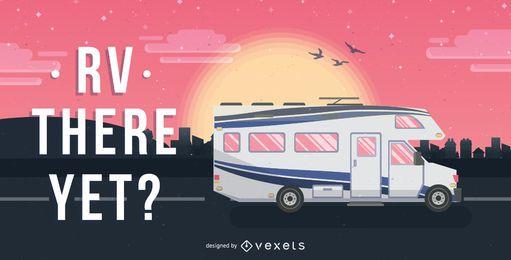 Ilustración de autocaravana RV
