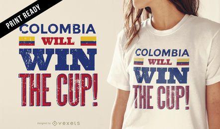 Projeto do t-shirt de Colômbia do copo de Rússia