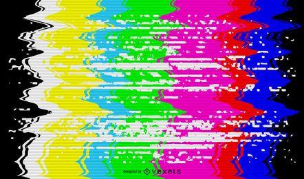 Ilustração do sinal de TV quebrada