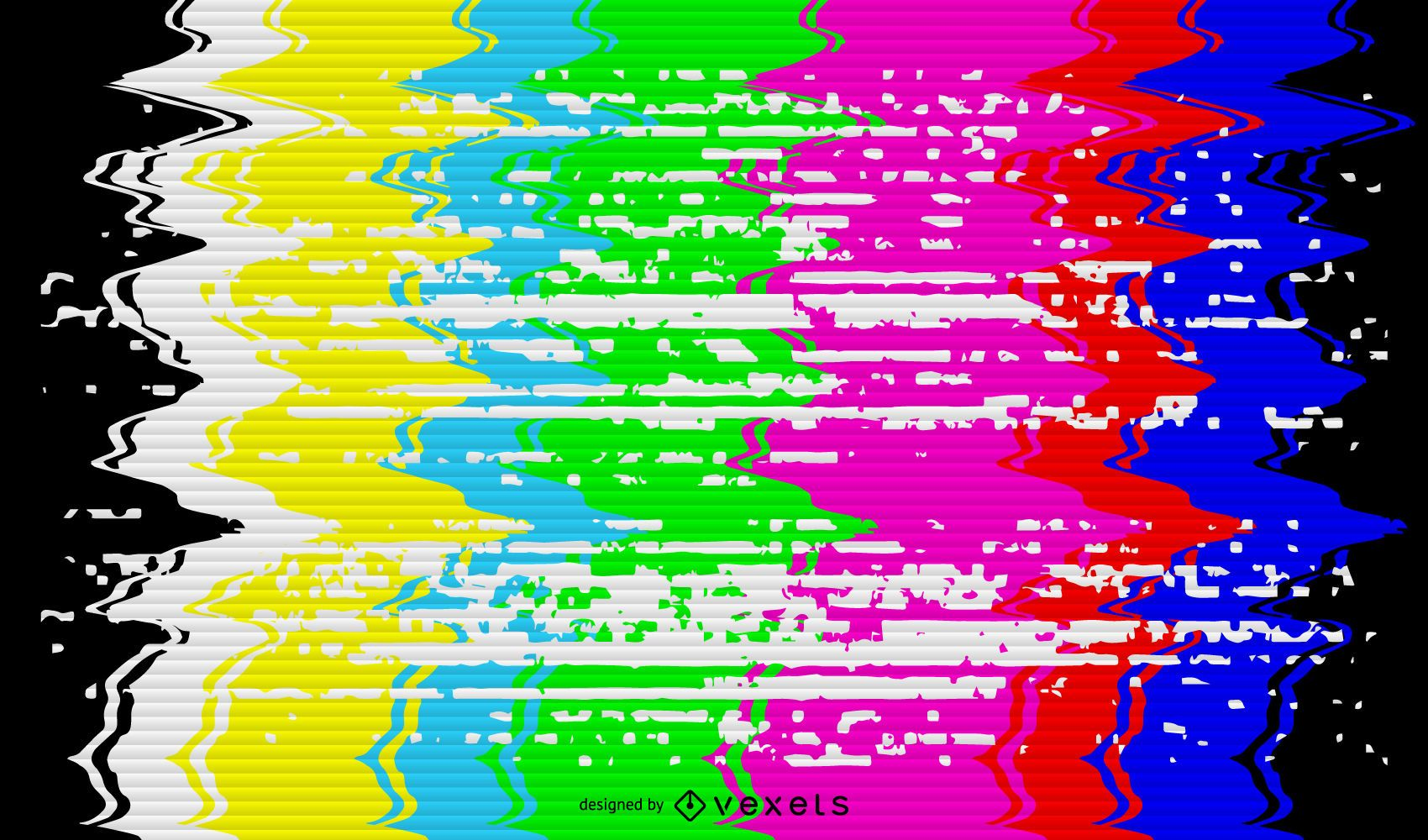 Broken TV signal illustration