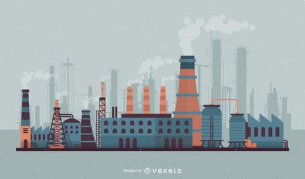 Factory skyline illustration