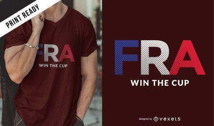 Diseño de camiseta Rusia 2018 para Francia