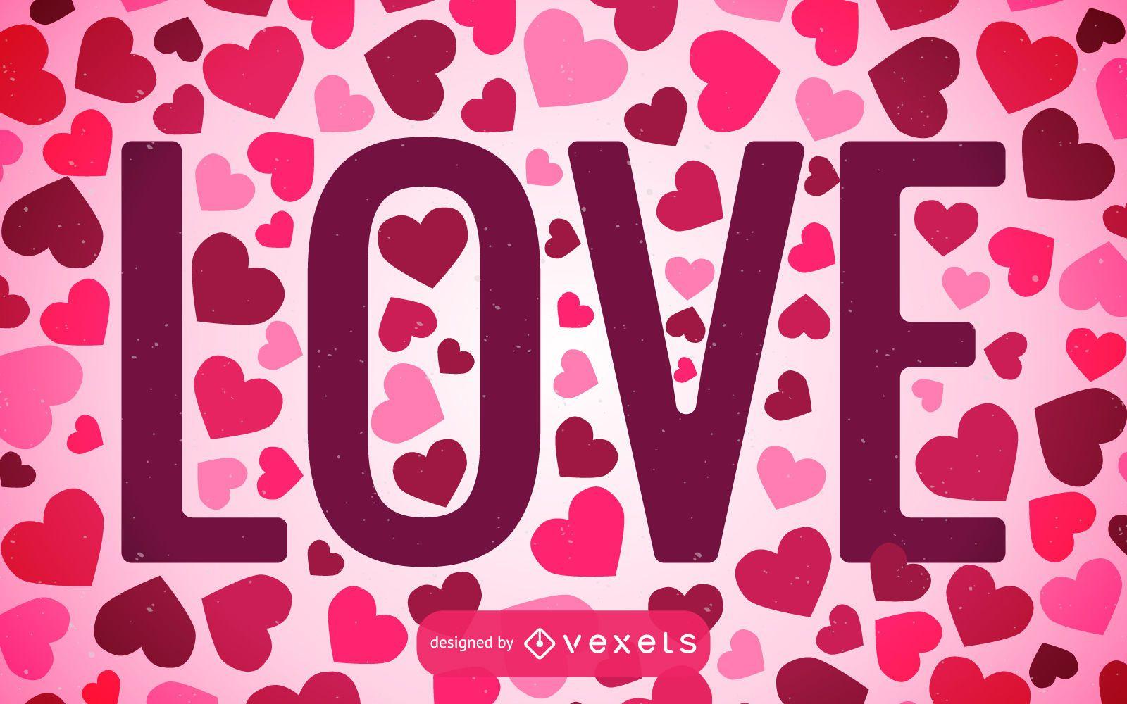 Fondo de amor lleno de corazones