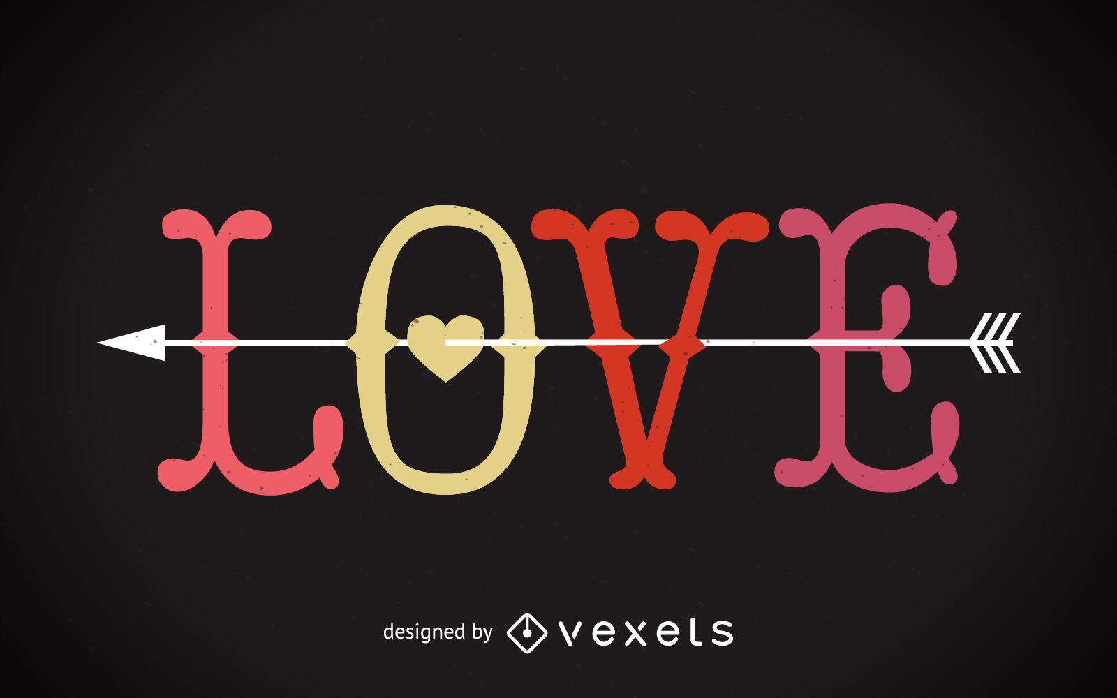 Retro love background