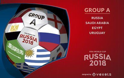 Rusia 2018 pelota con Grupo A