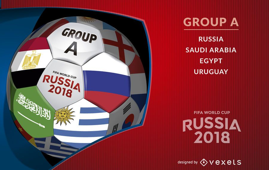 Russia 2018 ball with Group A