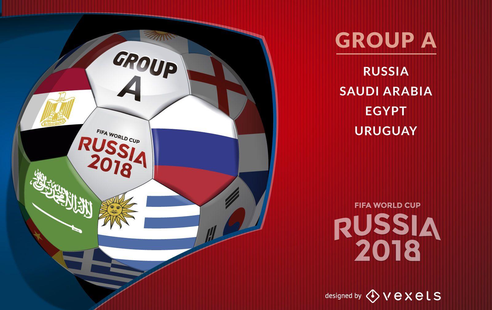 Good Football Ball World Cup 2018 - 699a43a92694740a093d2e1423c50e59-russia-2018-ball-with-group-a  Pic_249740 .jpg