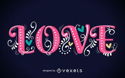 Cartaz de amor vintage fofo