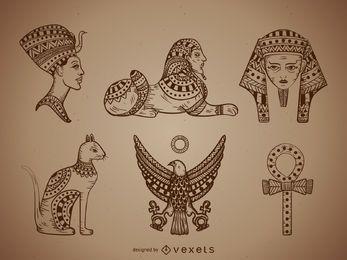 Ägypten Abbildungen eingestellt
