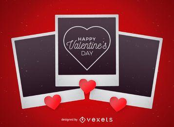 Diseño del día de San Valentín de Polaroid