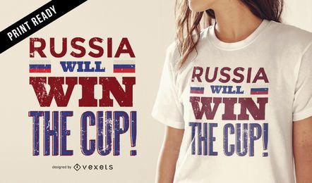 T-shirt do vencedor 2018 da Rússia