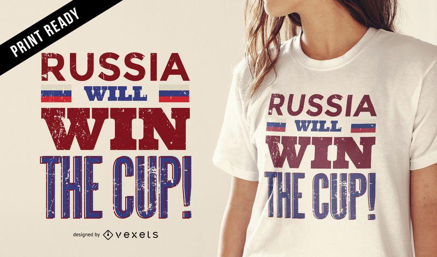 Russia Cup winner t-shirt