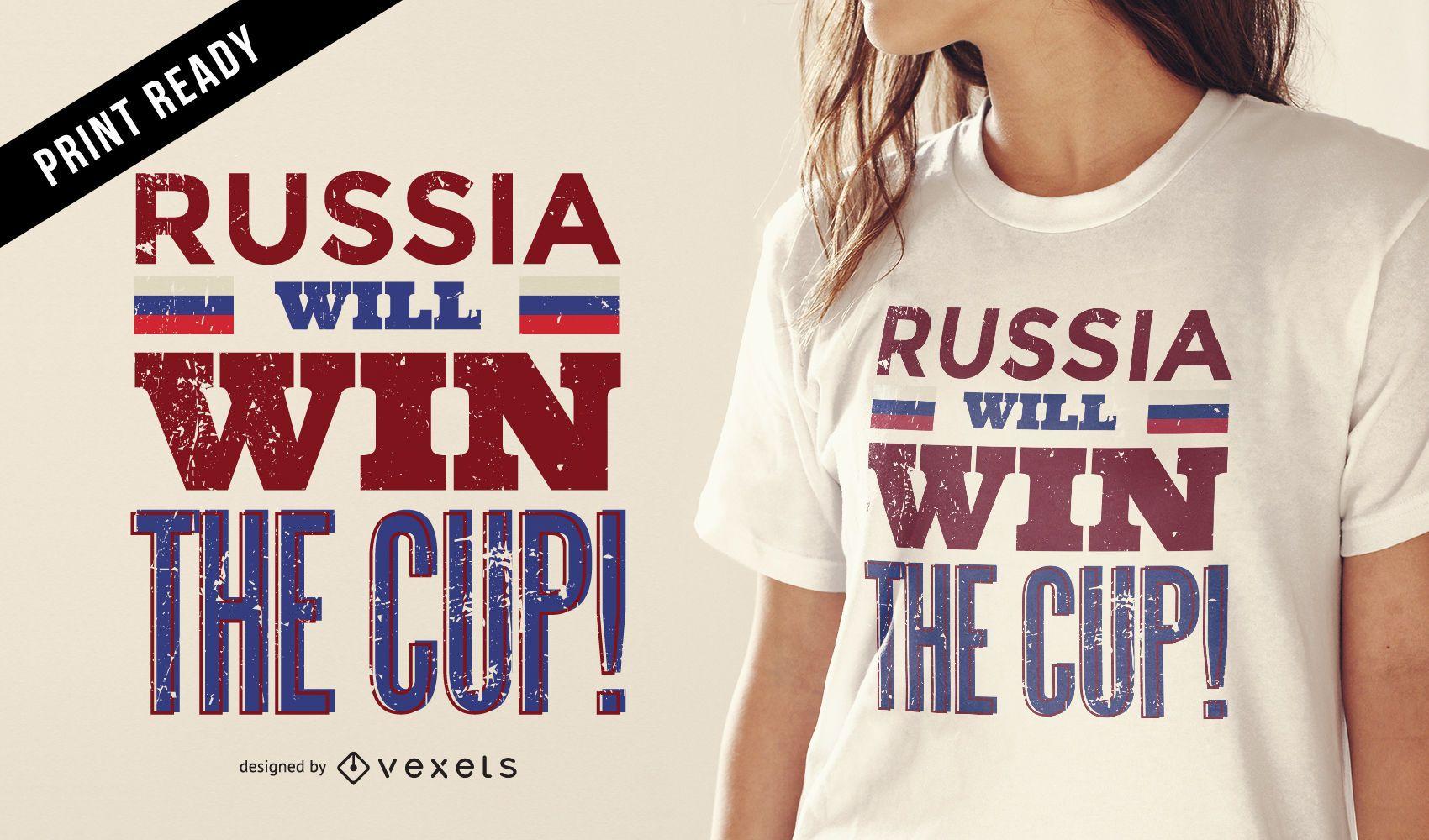 Camiseta ganador de la Copa Rusia