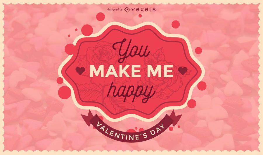 Valentine's Day romantic badge