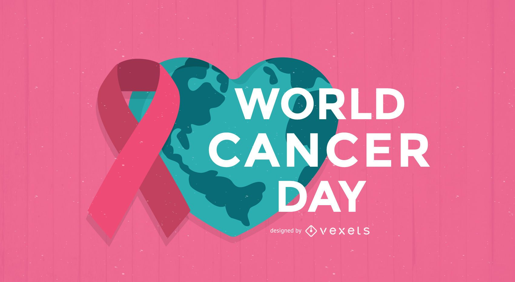 Flat World Cancer Day poster