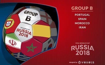 Rusia 2018 balón con el grupo B
