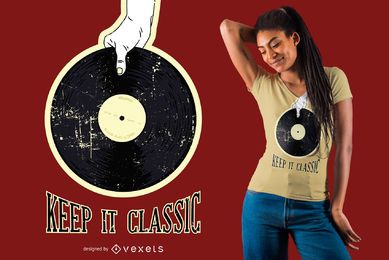 Diseño retro de camiseta de vinilo
