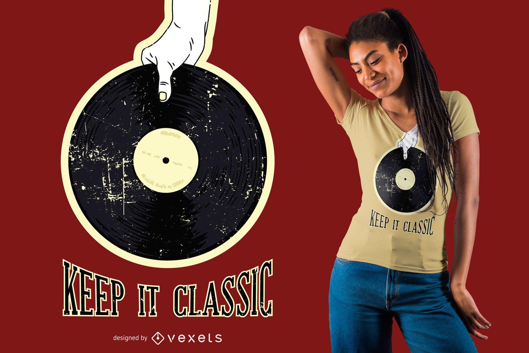 Retro vinyl t-shirt design