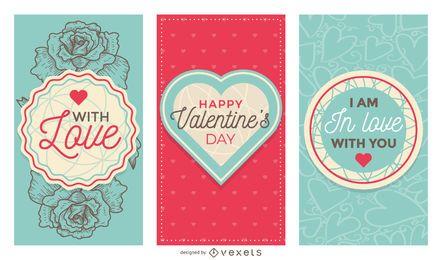 Lindo conjunto de banners de San Valentín