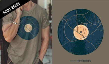 Diseño de camiseta rota de vinilo