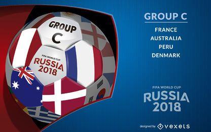 Rusia 2018 Grupo C Ball