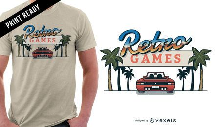 Design retro do t-shirt dos jogos