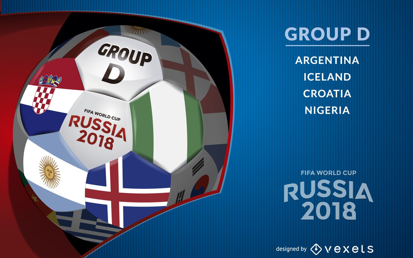 Russia 2018 Group D design