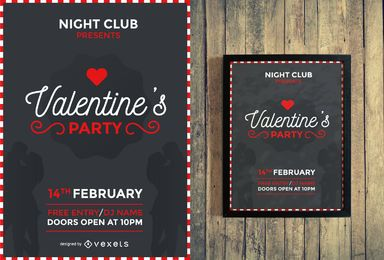 Valentine's party flyer design