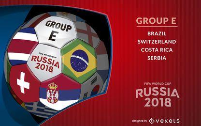 Rusia 2018 Grupo E diseño