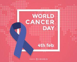 Weltkrebs-Tagesplakatband