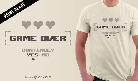 Design minimalista de t-shirt de gamer