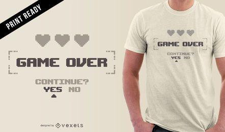 Minimalistisches Gamer-T-Shirt-Design