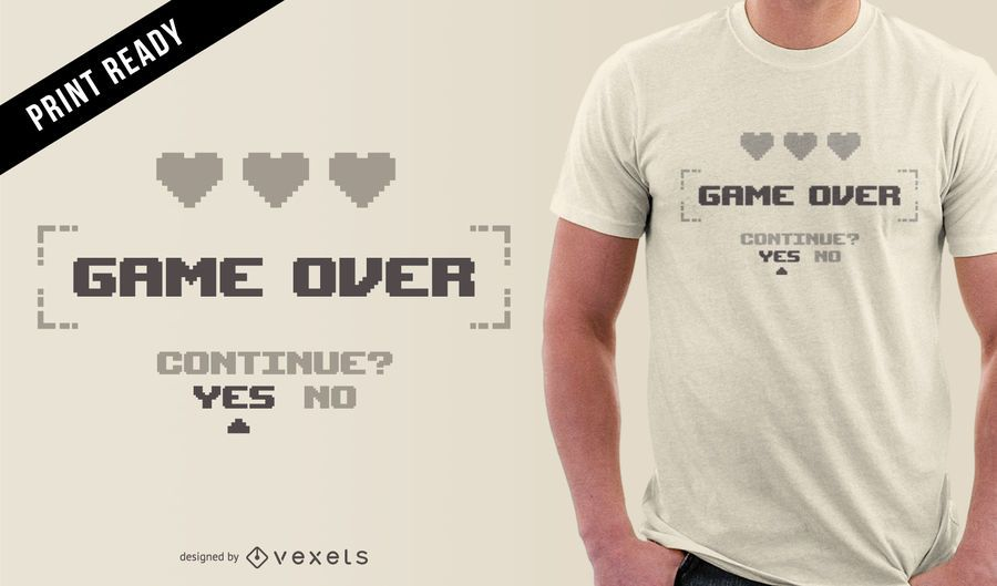 Minimalist gamer t-shirt design
