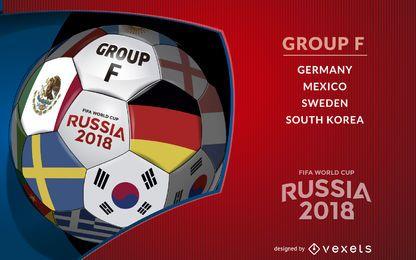 Rusia 2018 balón del Grupo F