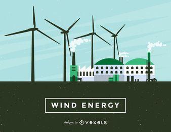 Ilustración de energía eólica