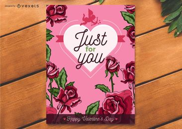 Linda tarjeta de San Valentín