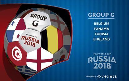 Cartaz do Grupo G da Rússia 2018