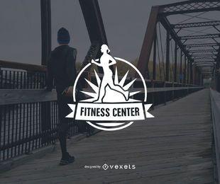 Design de modelo de logotipo de centro de fitness