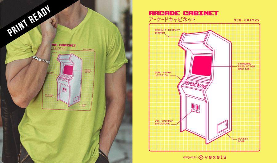 Diseño de camiseta retro arcade